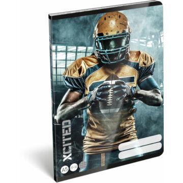 Füzet tűzött A/5 kockás 27-32 X-Cited NFL