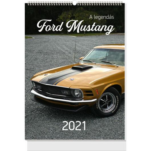 Falinaptár B3 spirál 2021 A legendás Ford Mustang