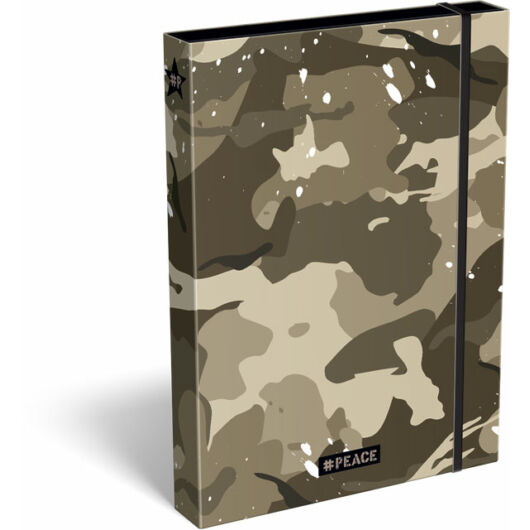 Füzetbox A/4 #peace Brown