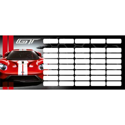 Órarend mini Ford GT