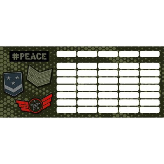 Órarend mini #peace Pixel