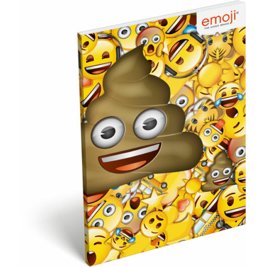 Papírfedeles notesz A6 emoji Poop