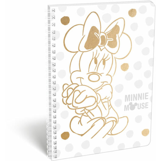 Füzet spirál A/4 kockás exkluzív Minnie Fashion White