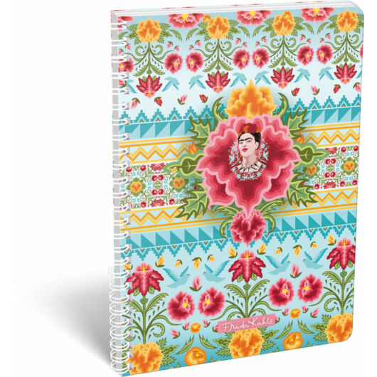 Füzet dupla spirál A/4 kockás Frida Kahlo Cielo Azul