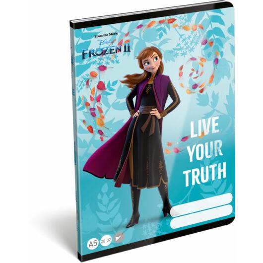 Füzet tűzött A/5 sima 20-32 Frozen 2 Believe