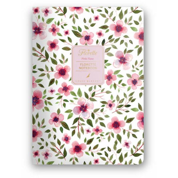 Florette Notebook A5 Dolce Blocco Pink Flow