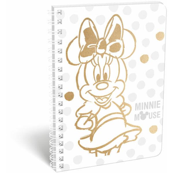 Füzet spirál A/5 vonalas exkluzív Minnie Fashion White