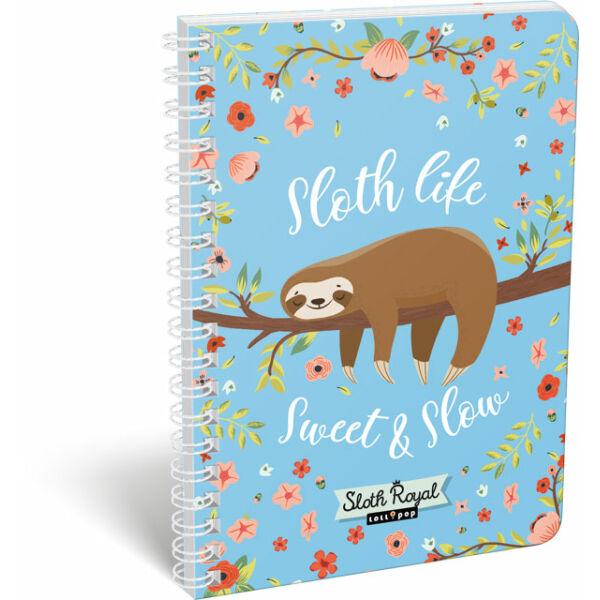 Füzet dupla spirál A/5 vonalas Lollipop Sloth Royal