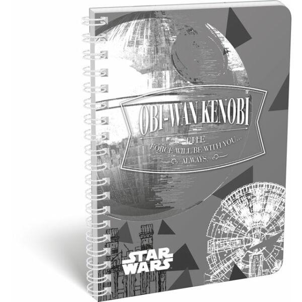 Füzet dupla spirál A/5 vonalas Star Wars Fashion Obi-Wan