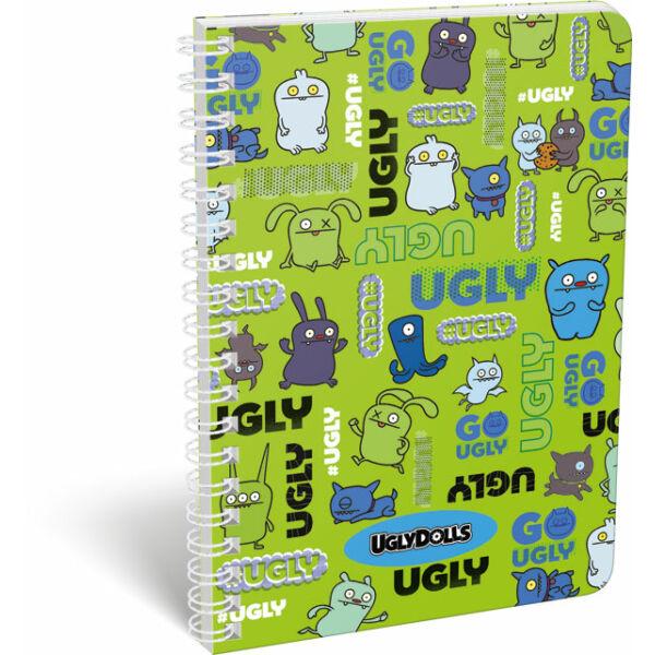 Füzet dupla spirál A/5 vonalas Ugly Dolls Green