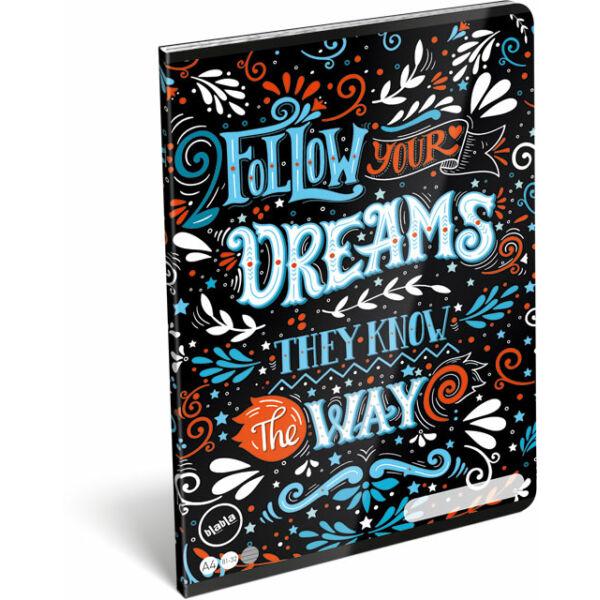 Füzet tűzött A/4 vonalas 81-32 blabla Dreams
