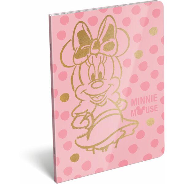 Füzet tűzött A/4 kockás 87-32 exkluzív Minnie Fashion Pink
