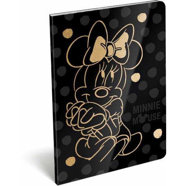 Füzet tűzött A/5 vonalas 21-32 exkluzív Minnie Fashion Black