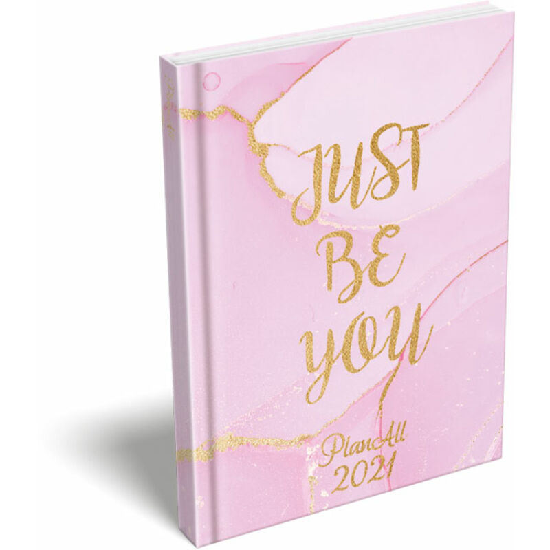 PlanAll A6 keményfedeles aranyozott 2021 Just Be You