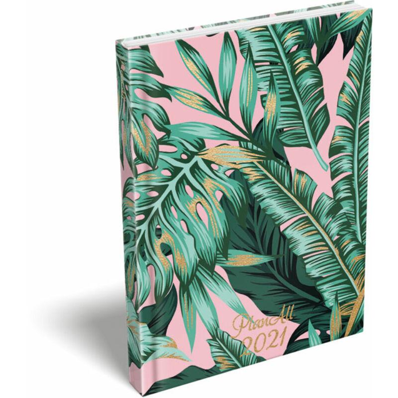 PlanAll A6 keményfedeles aranyozott 2021 Palm Tree