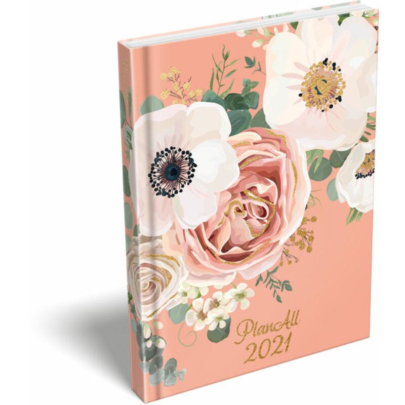 PlanAll A6 keményfedeles aranyozott 2021 Wild Rose
