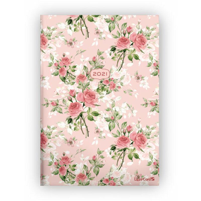 Heti Tervező B5 2021 Pink Roses