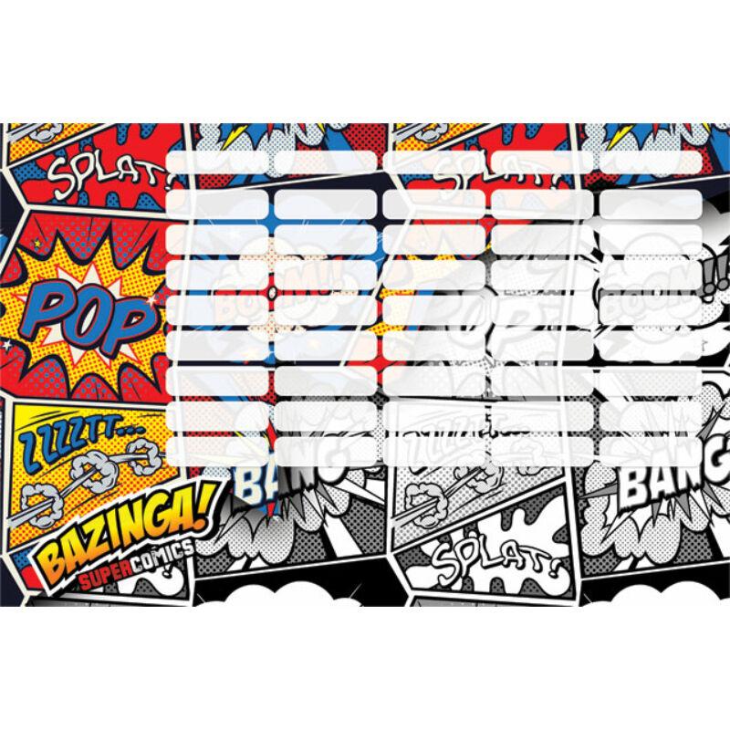 Órarend nagy Supercomics Bazinga