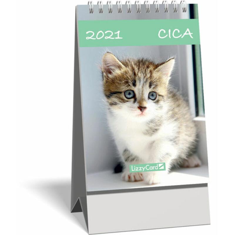 Asztali naptár spirálozott kis képes 2021, Cica