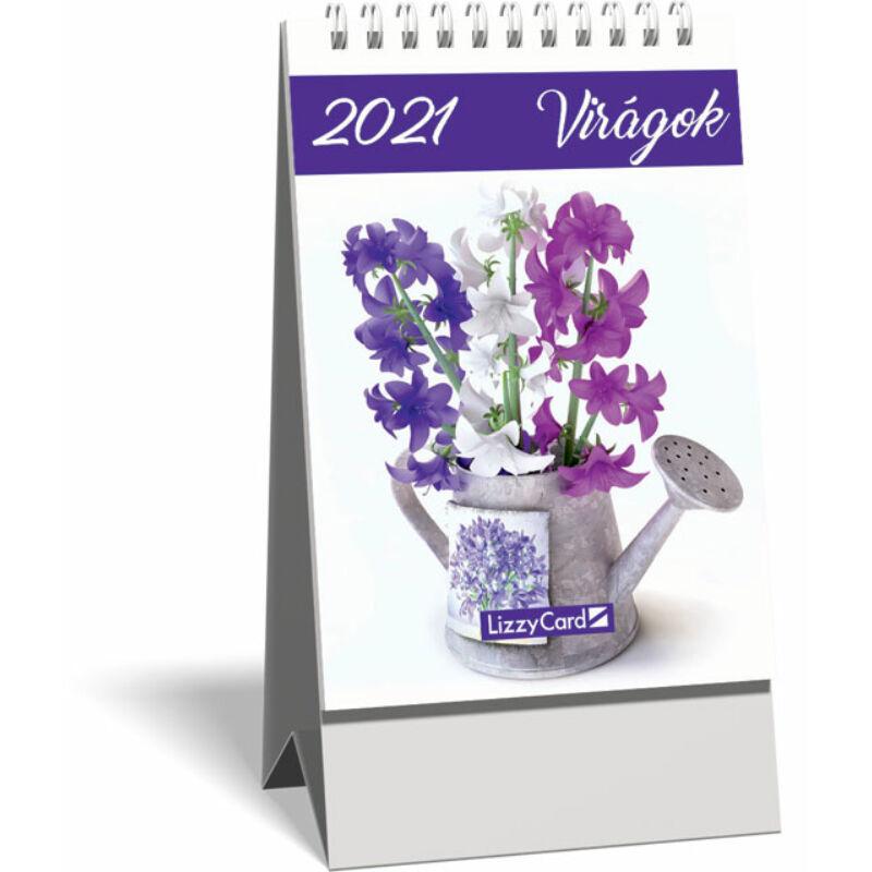 Asztali naptár spirálozott kis képes 2021, Virágok
