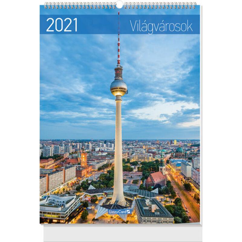 Falinaptár B3 spirál 2021 Világvárosok