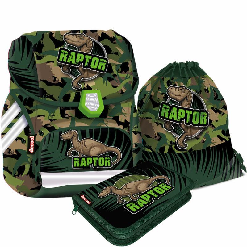 Iskolatáska Compact Raptor csomag