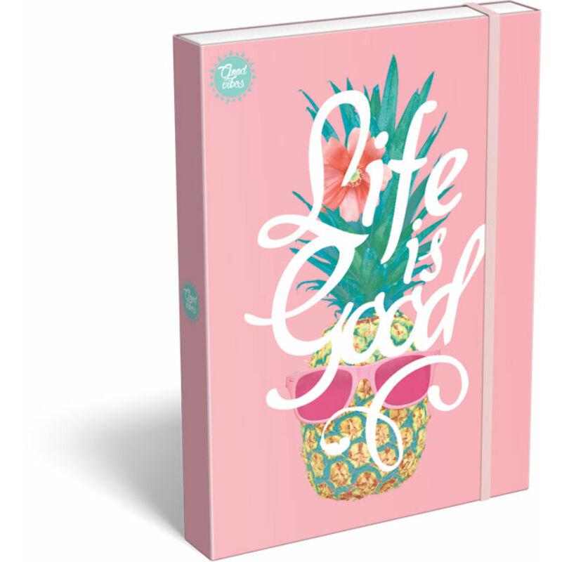 Füzetbox A/4 Good Vibes Life is Good