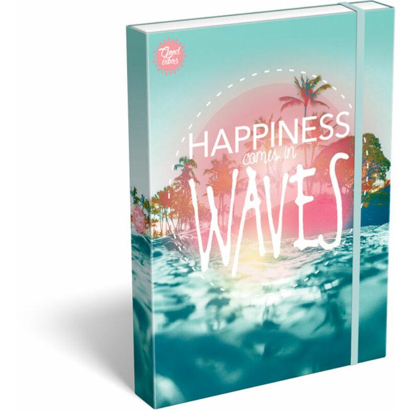 Füzetbox A/4 Good Vibes Wave