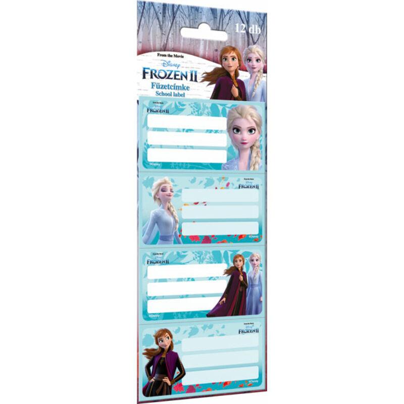 Füzetcímke 12 db-os Frozen 2 Believe
