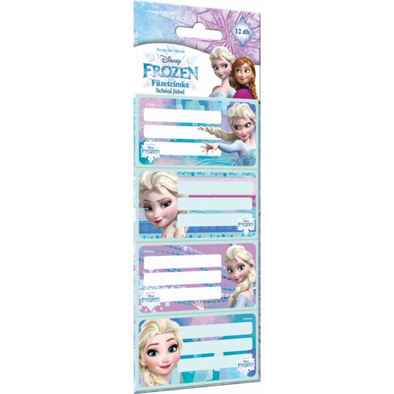 Füzetcímke 12 db-os Frozen Magic