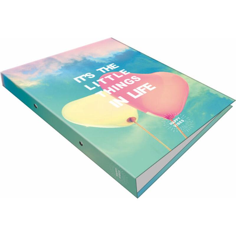 Gyűrűs könyv 2 gyűrűs Happy Vibes Little Things