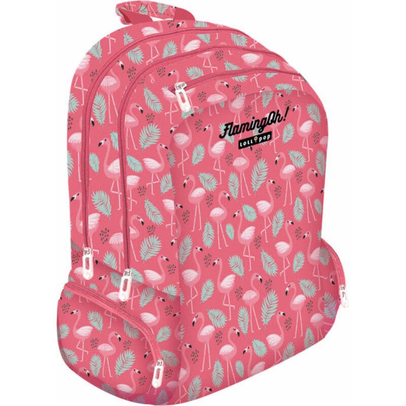 Iskolatáska Teen+ Lollipop Flamingó