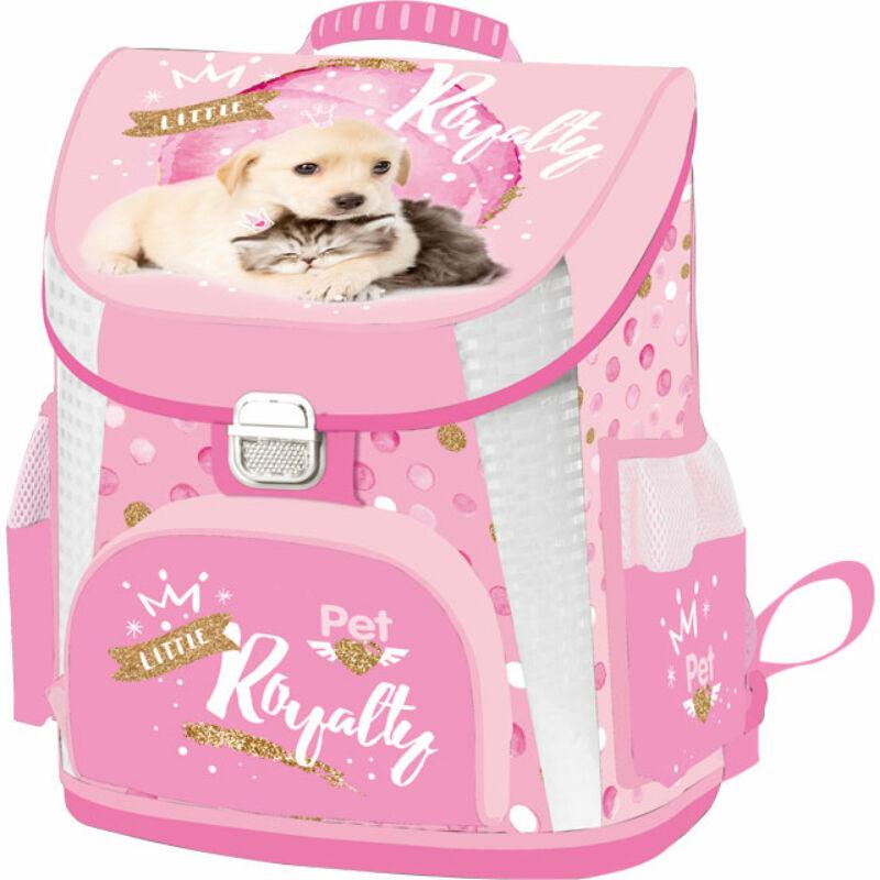 Iskolatáska prémium Little friends Pink