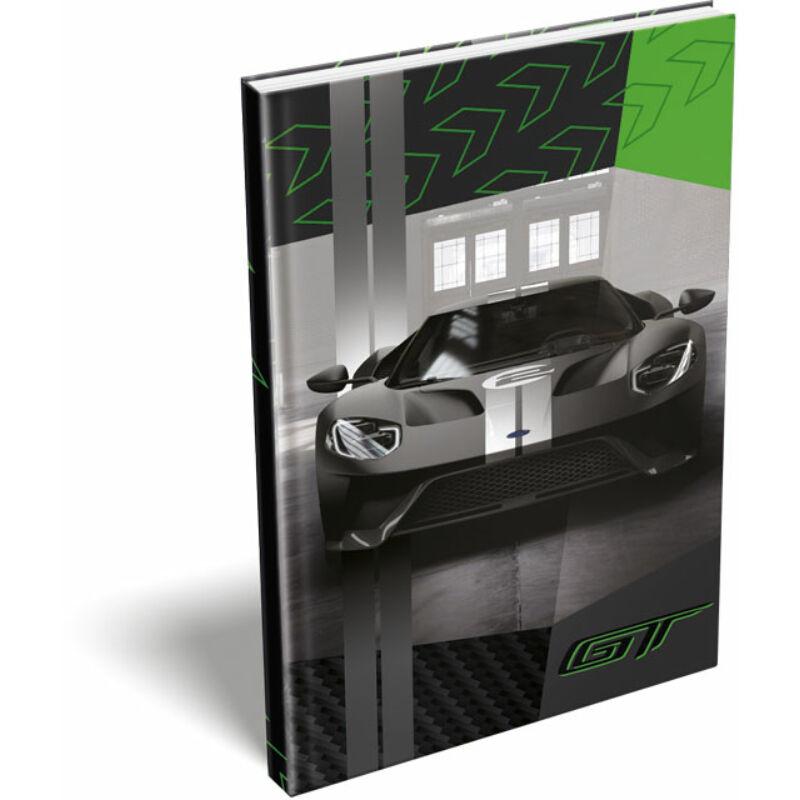 Keményfedeles notesz A5 Ford GT Green