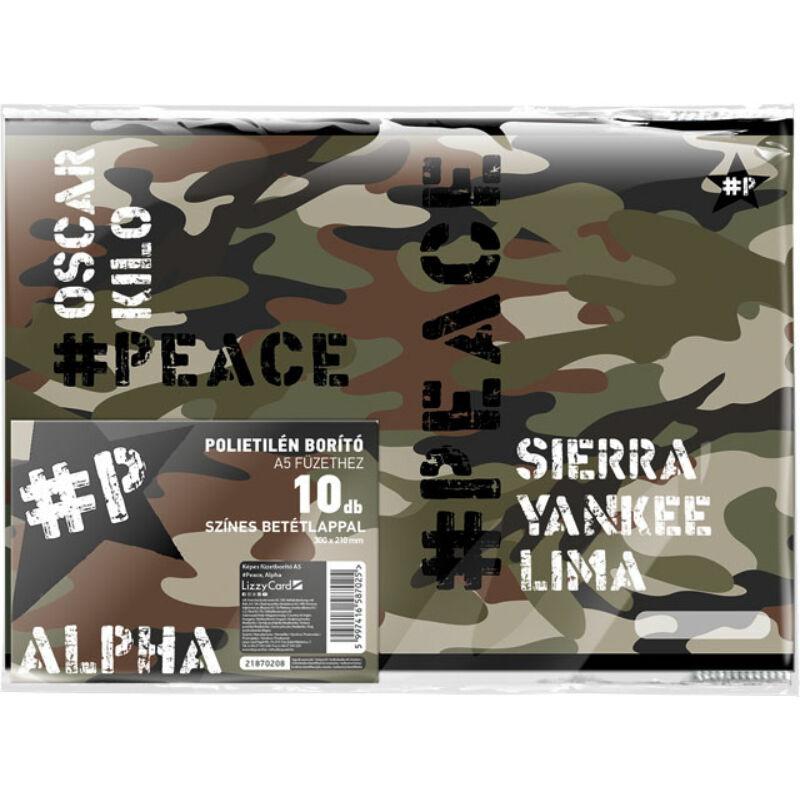 Füzetborító képes A/5 #peace Alpha