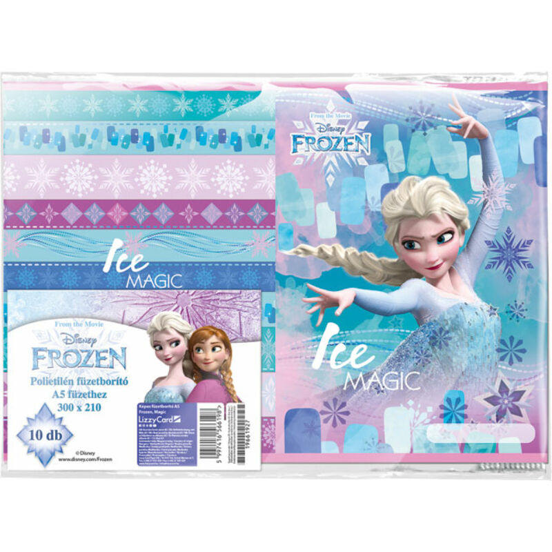 Füzetborító képes A/5 Frozen Magic 10 db/cs