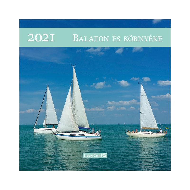 Falinaptár lemez közepes 2021 Balaton