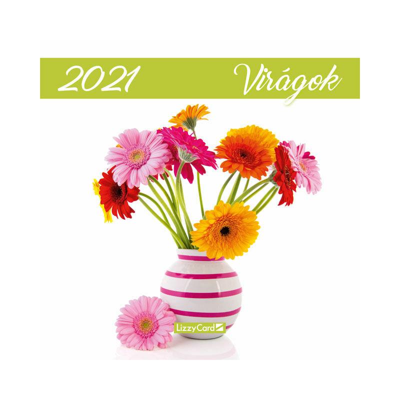 Falinaptár lemez közepes 2021 Virágok