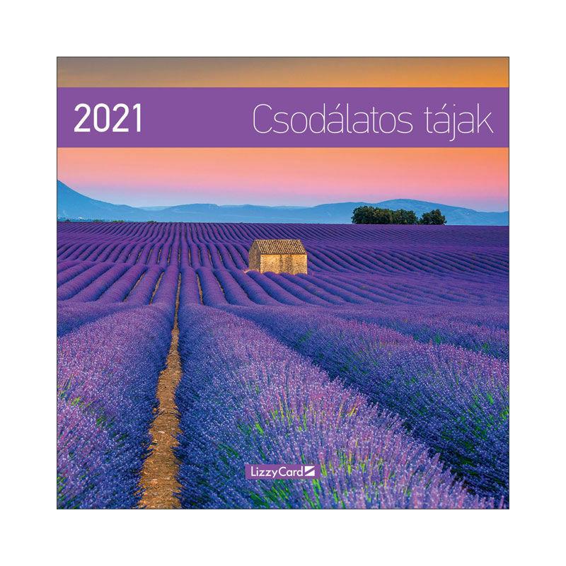 Falinaptár lemez nagy 2021 Csodálatos tájak