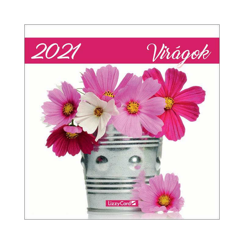 Falinaptár lemez nagy 2021 Virágok