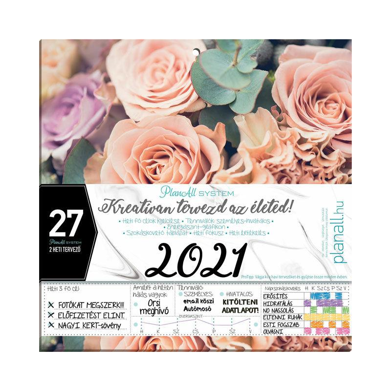 Hűtőmágneses kétheti naptár 2021 PlanAll System