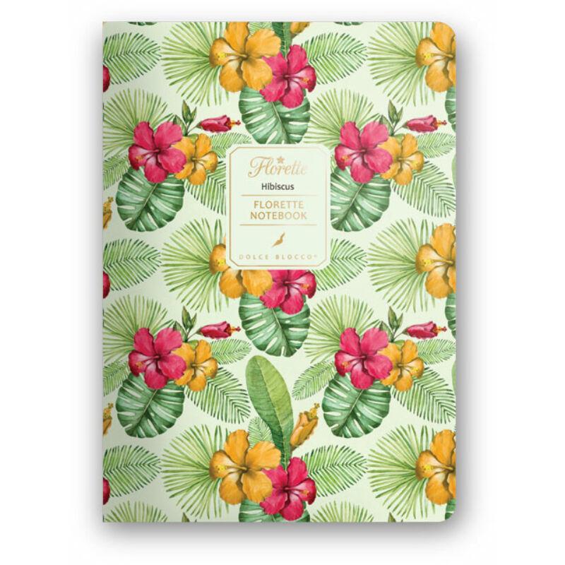 Florette Notebook A5 Dolce Blocco Hibiscus