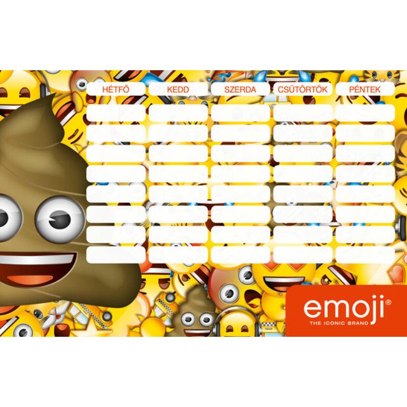 Órarend emoji Poop