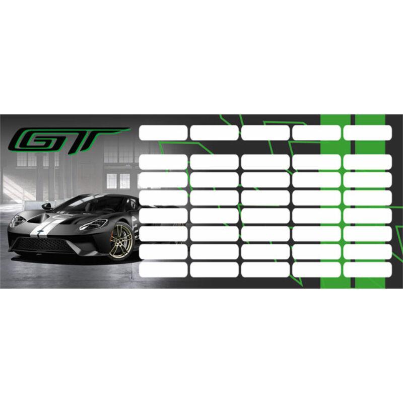 Órarend mini Ford GT Green