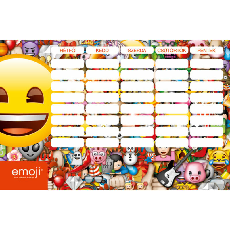Órarend nagy emoji Smile