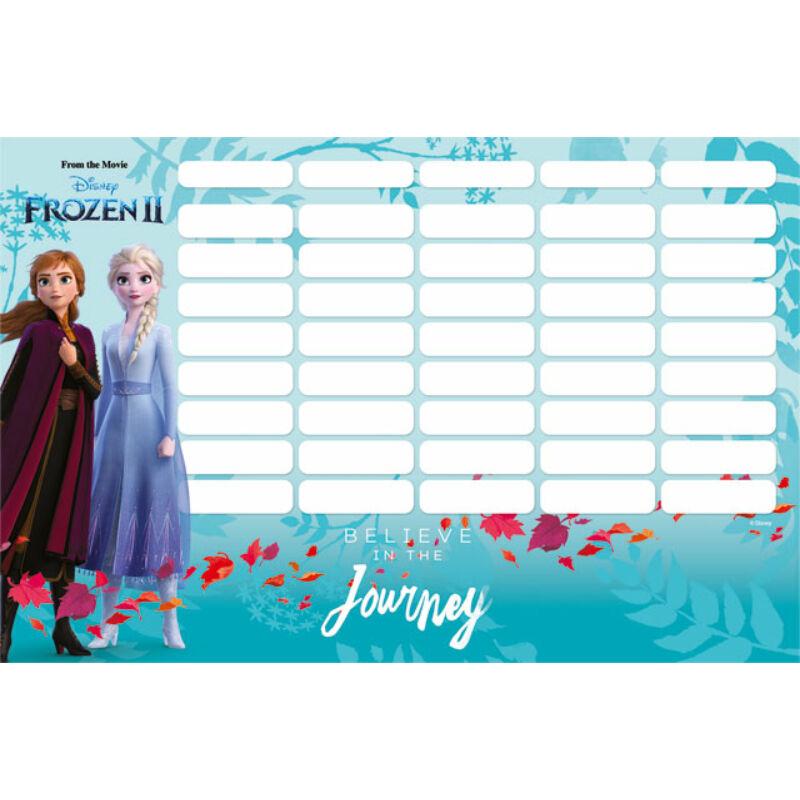 Órarend mini Frozen 2 Believe