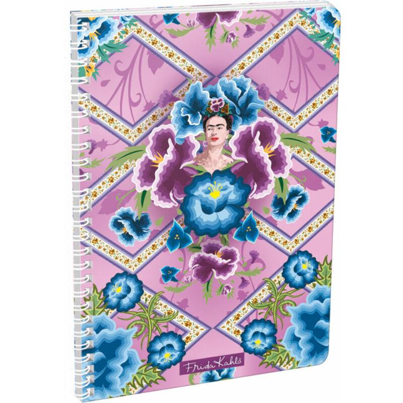Füzet dupla spirál A/4 kockás Frida Kahlo Púrpura