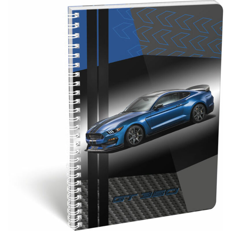 Füzet dupla spirál A/4 kockás Ford Mustang Blue