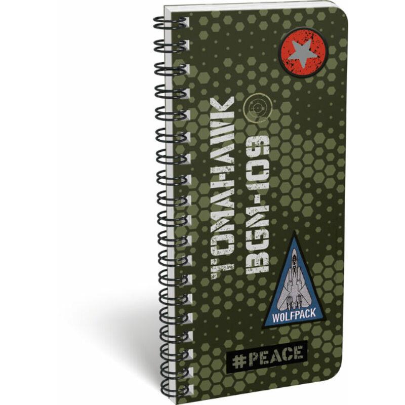 Füzet spirál szótár exkluzív #peace Pixel