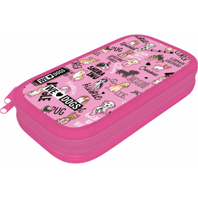 Tolltartó textil 2 emeletes We Love Dogs Pink